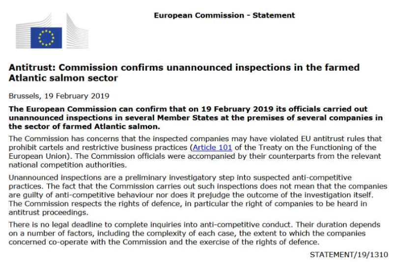 EC statement 19 Feb 2019