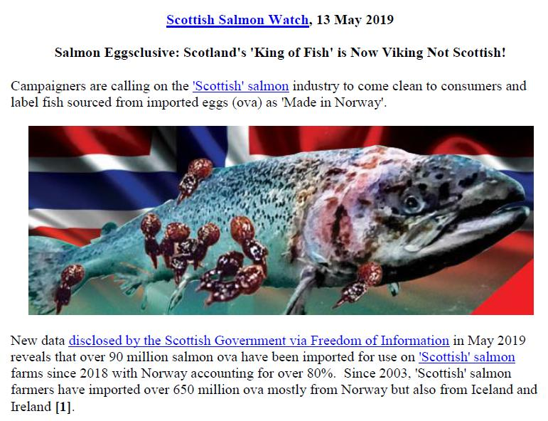 PR Eggsclusive King of Fish Now Viking Not Scottish 13 May 2019 #1