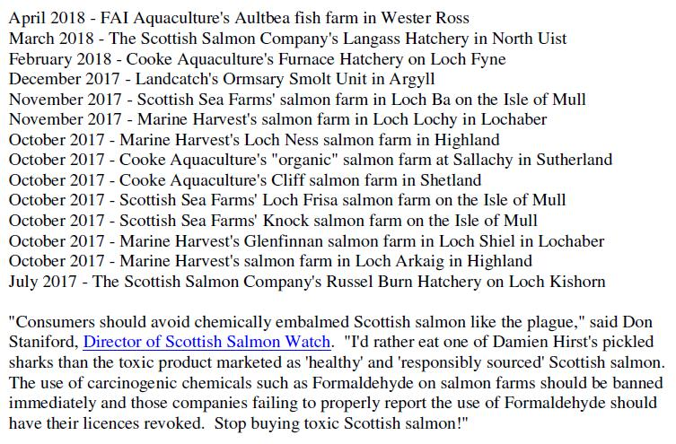 PR Formalin Cancer Causing Chemicals Stashed at Scottish Salmon 26 June 2019 #4