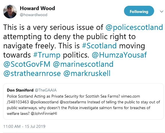 Police Scotland Howard Tweet
