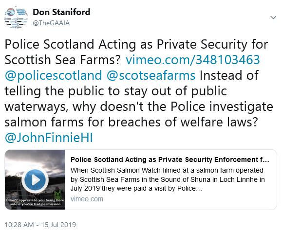 Police Scotland tweet by Don