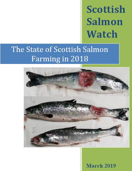 Report State of Scottish Salmon Farming in 2018 front cover