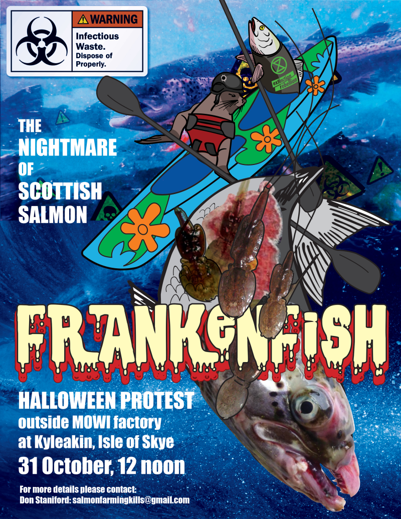 Frankenfish poster #4 with text and contact