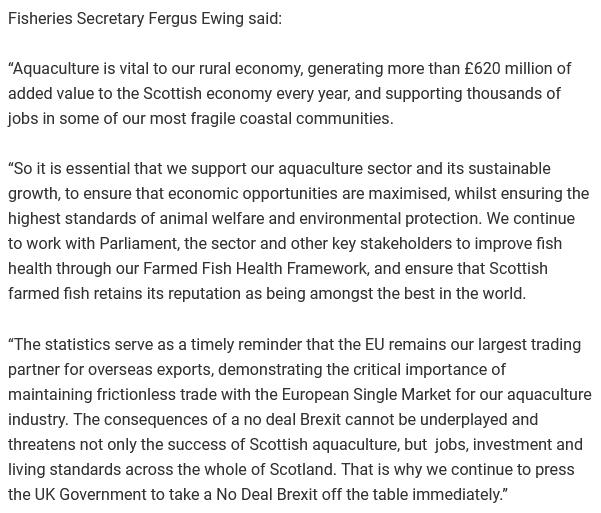 2019 Fish Farm Survey SG PR re Fergus on sustainable growth