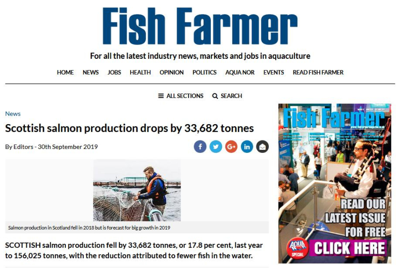 2019 Fish Farm Survey # Fish Farmer news