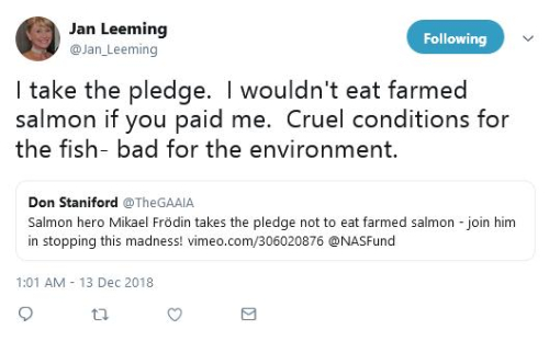 Jan Leeming pledge on Twitter