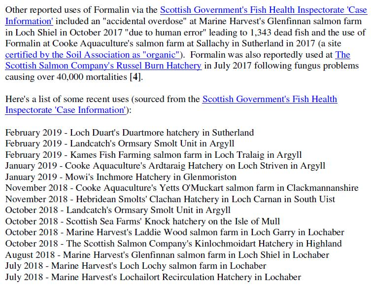 PR Formalin Cancer Causing Chemicals Stashed at Scottish Salmon 26 June 2019 #3