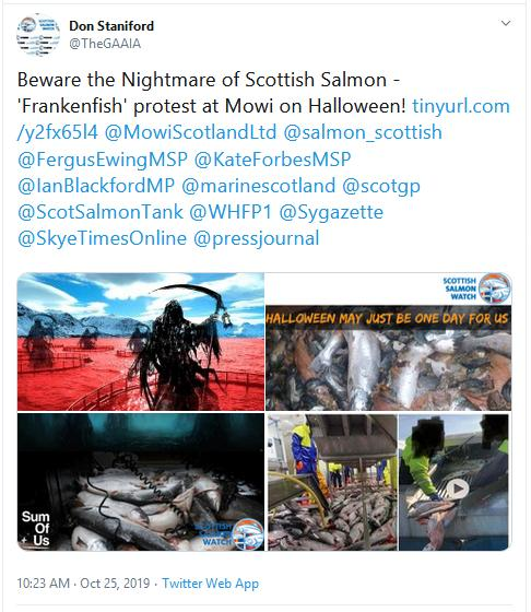 PR Nightmare of Scottish Salmon 25 Oct 2019 Tweet
