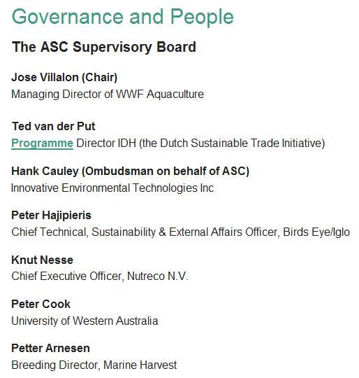 ASC supervisory board Feb 2013
