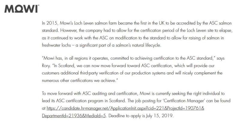 MOWI ASC advert