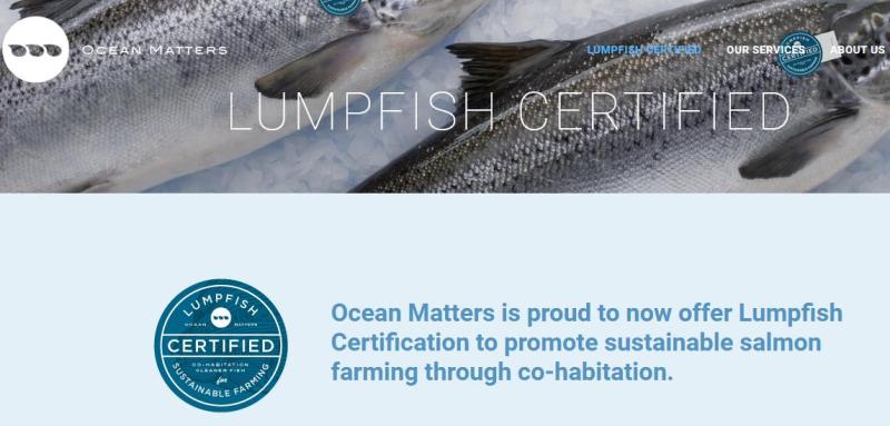 Ocean Matter lumpfish certified