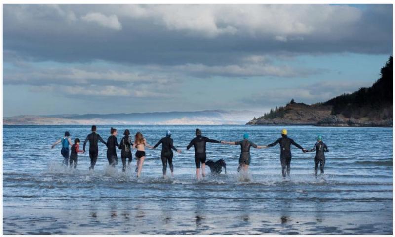 Swim against fish farm photo #4