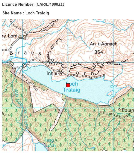 Kames Loch Tralaig map