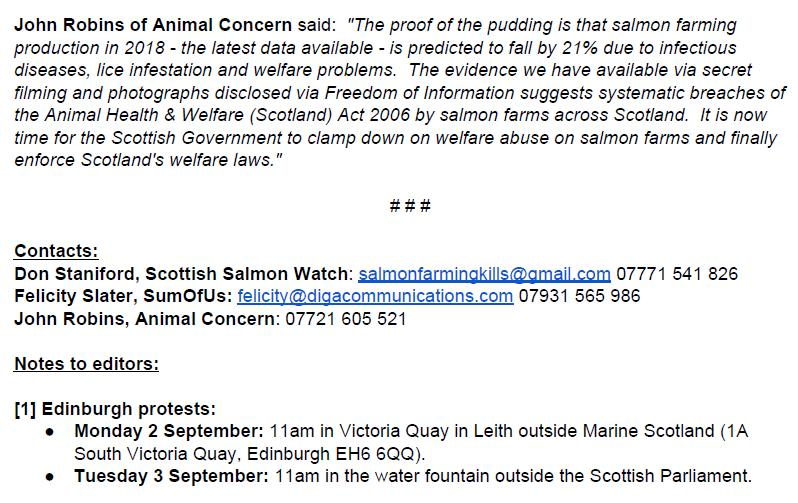 PR Testing Times for Scottish Salmon 30 August 2019 #3