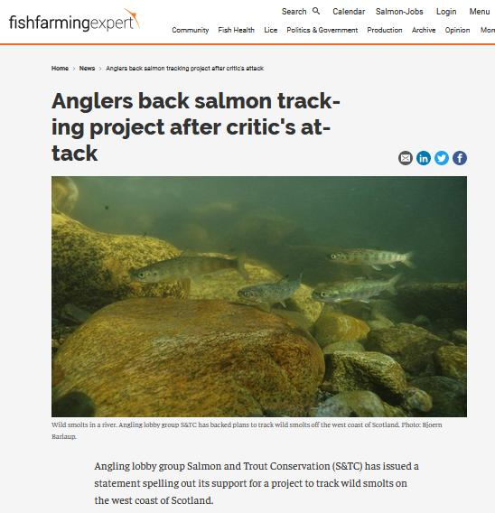 Smolt Tracking FFE 10 Jan 2020 #1