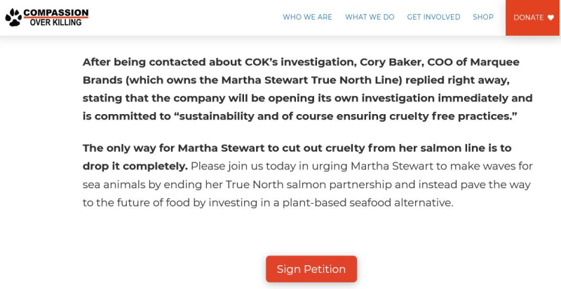 COK Martha petition