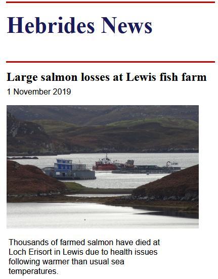 Tabhaigh Hebrides losses Nov 2019