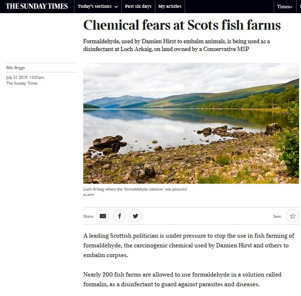 Sunday Times on Formaldehyde 21 July 2019 #1