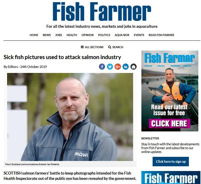 Fish Farmer sick pictures 24 October 2019