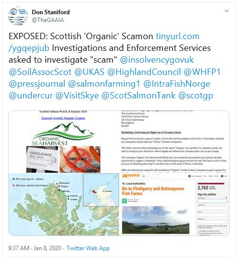 PR Organic Scamon 8 Jan 2020 Tweet