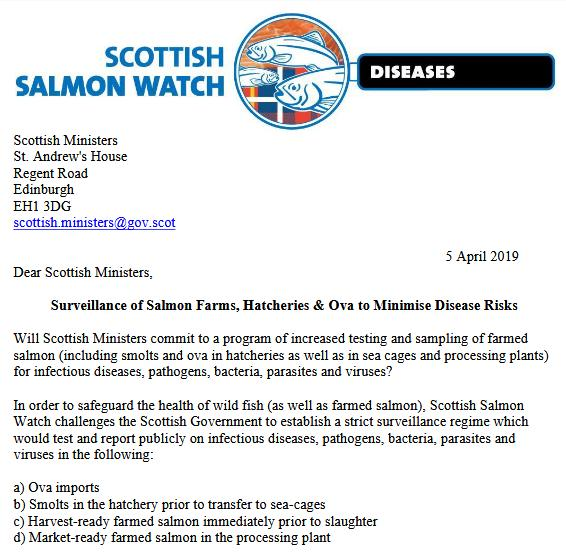 Letter to Scottish Ministers 5 April 2019 #1