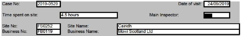 Mowi Cairidh Tweet #3 site info