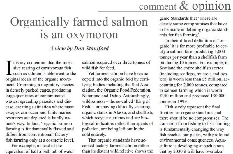Organic Standard July 2001 #1