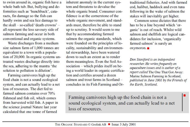 Organic Standard July 2001 #2