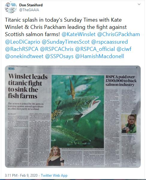 Sunday Times 9 Feb 2020 newspaper version Tweet