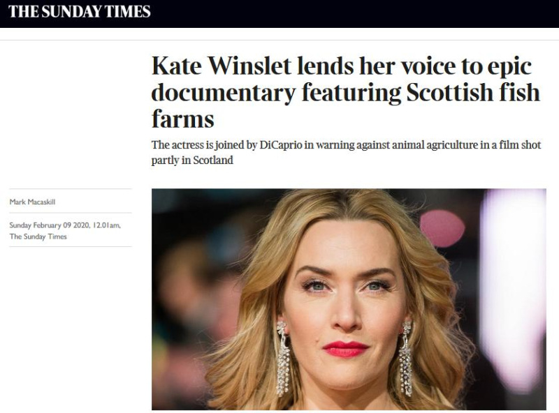 Sunday Times 9 Feb 2020 newspaper version Kate Winslet online version #1