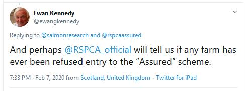 RSCPA Tweet #27 Ewan refusals