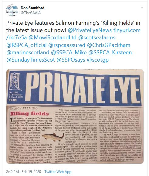 Private Eye 21 Feb 2020 Tweet
