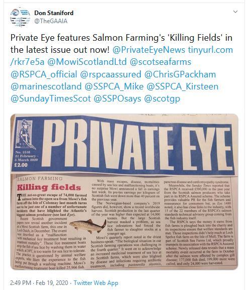 Private Eye 21 Feb 2020 Tweet
