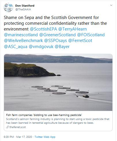 PR Ectosan BMK08 17 March 2020 Tweet #6 shame on sepa
