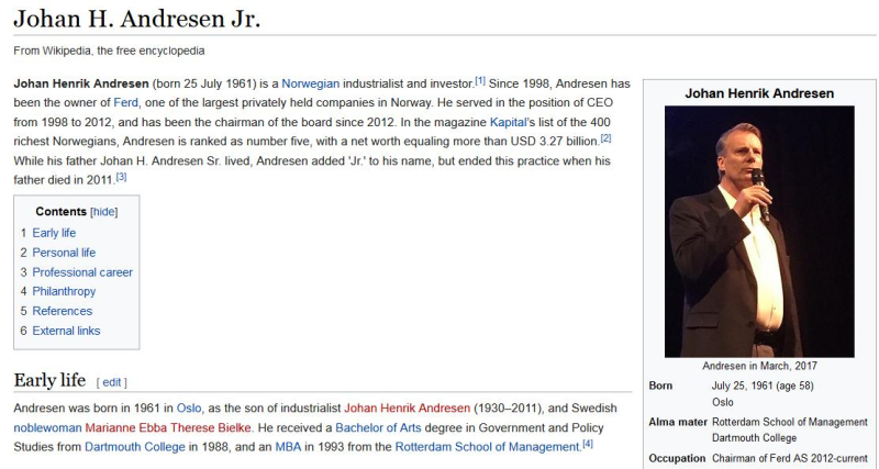 Johan Andresen wikipedia #1