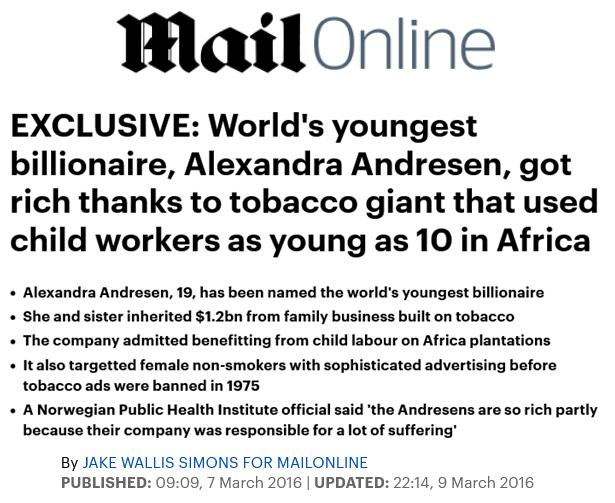 Johan Andresen Daily Mail