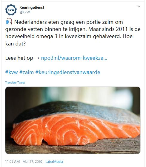 Dutch TV March 2020 Tweet 27 March by KvW