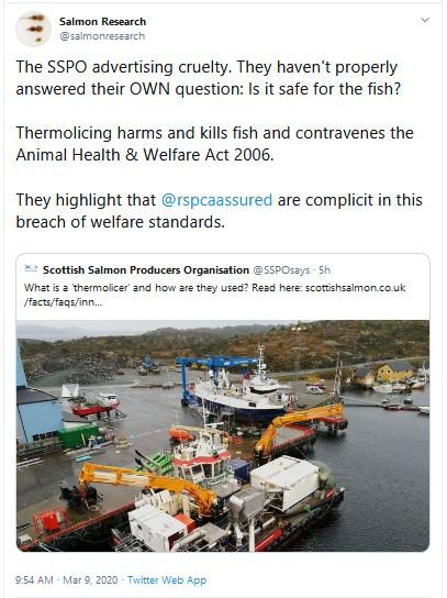 Thermolicer SSPO blog Tweet 9 March 2020 by Salmon Research