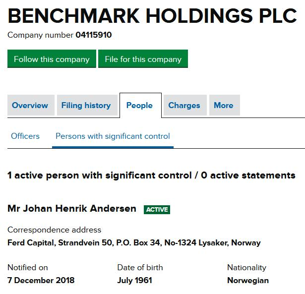 Benchmark Tweet 18 March 2020 #6 Johan Andresen significant control