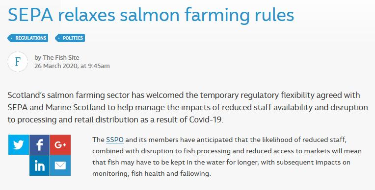 COVID position statement March 2020 Fish Site