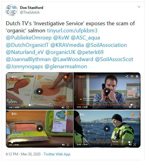 Dutch TV March 2020 Tweet 30 March