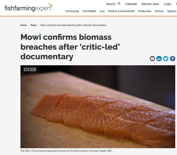 Biomass breaches BBC Panorama admission May 2019