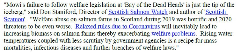 PR Censored Welfare Abuse on Salmon Farms 23 April 2020 #11