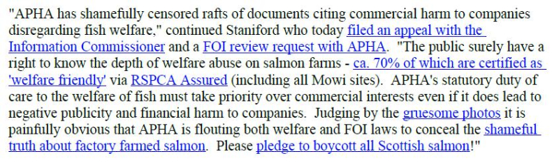PR Censored Welfare Abuse on Salmon Farms 23 April 2020 #12