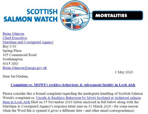 M&CA Complaint re Ardintoul 1 May 2020 #1