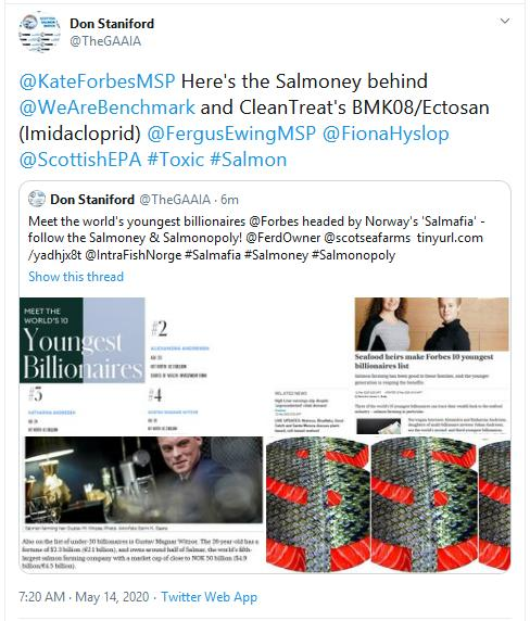 Forbes youngest billionnaires Tweet 14 May 2020 #2 to Kate Forbes