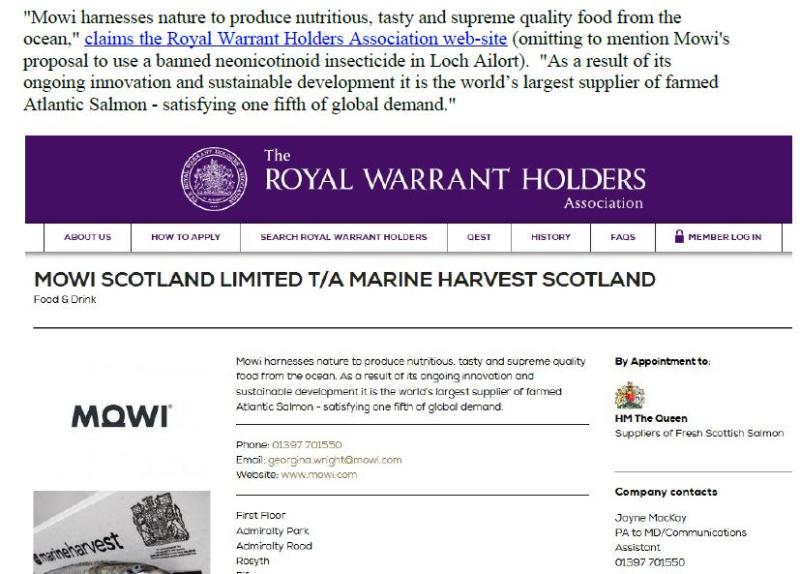 PR Imidacloprid trial in Loch Ailort by Mowi 20 May 2020 #6
