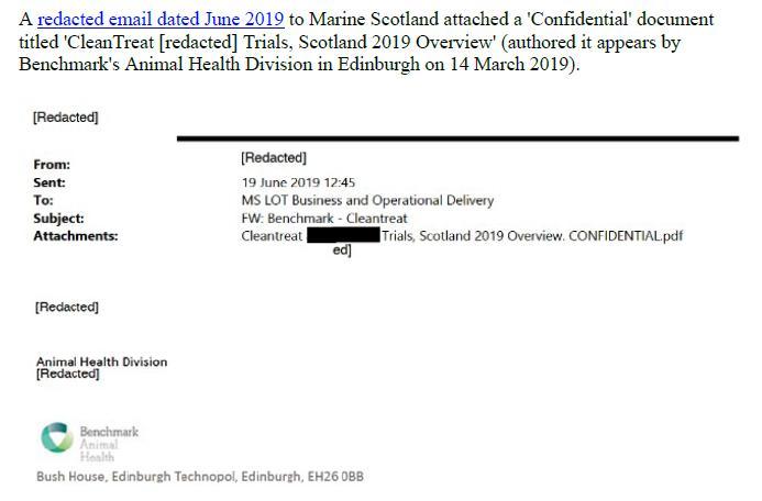 PR Imidacloprid trial in Loch Ailort by Mowi 20 May 2020 #24
