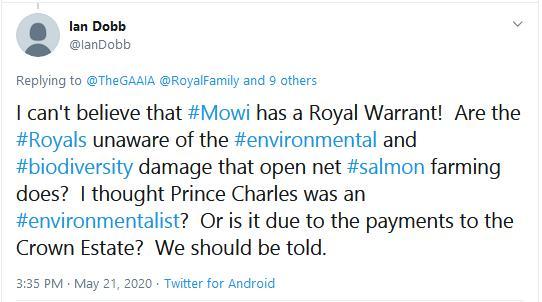 Imidacloprid letter to Prince Charles 20 May 2020 Tweet by Ian Dobb