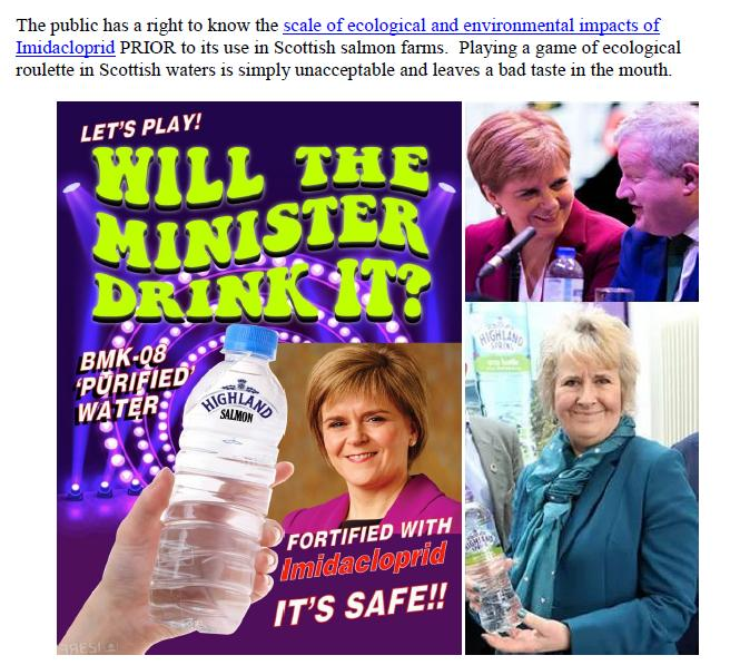 Letter to Scottish Ministers SEPA & VMD re Imidacloprid 8 June 2020 #2